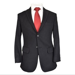 Pronto Uomo Black Slim Fit Blazer 36S